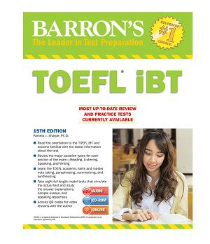 کتاب Barrons TOEFL iBT 15th+DVD