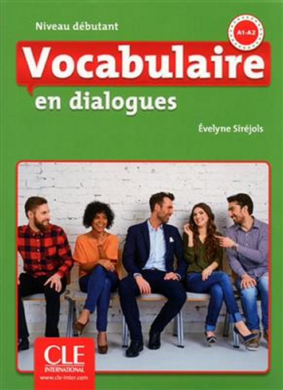 کتاب Vocabulaire en dialogues - debutant + CD - 2eme edition سیاه و سفید