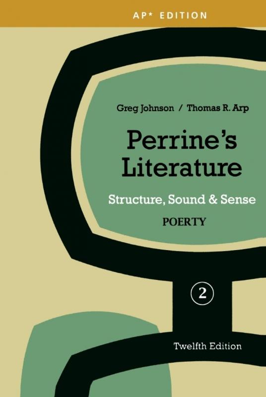 کتاب زبان Perrines Literature Structure, Sound & Sense Poetry 2 Twelfth Edition