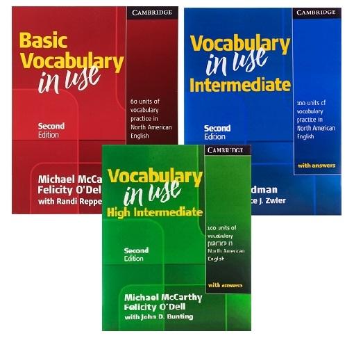 Vocabulary in Use Basic + Intermediate + High Intermediate پک کامل کتاب وکب این یوز ( امریکن )