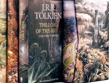 مجموعه 4 جلدی کتاب لورد آف د رینگز Lord of the Rings Illustrated Edition 1 to 4 Packed