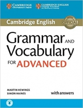 کتاب زبان Grammar and Vocabulary for Advanced Book