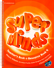 کتاب معلم Super Minds 4 Teachers Book+CD
