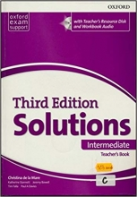 کتاب معلم سولوشنز اینترمدیت ویرایش سوم Solutions Intermediate Teachers Book 3rd +CD