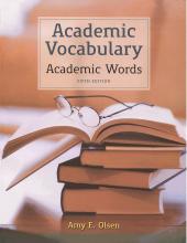 کتاب Academic Vocabulary Academic Words 5th Edition سیاه و سفید