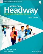 کتاب American Headway 3rd 5 SB+WB+DVD