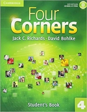 کتاب آموزشی فورکرنز Four Corners 4 Student Book and Work book with CD
