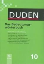کتاب Duden das bedeutungs-wörterbuch band 10