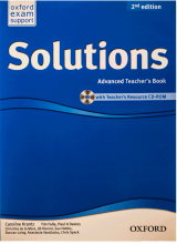 کتاب معلم  New Solutions Advanced Teachers Book+CD