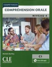 کتاب Comprehension orale 4 - Niveau C1 + CD - 2eme سیاه و سفید