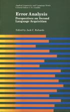 کتاب Error Analysis Perspectives on Second Language Acquisition