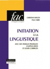 کتاب Initiation a la linguistique