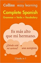کتاب  (Complete Spanish Grammar Verbs Vocabulary: 3 Books in 1 (Collins Easy Learning