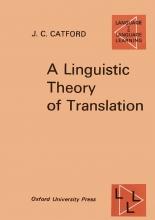 A Linguistic Theory Of Translation