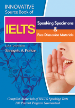 کتاب Innovative Source Book of IELTS Speaking Specimens & free discussion materials