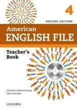 کتاب معلم امریکن انگلیش فایل American English File 4 Teachers Book+CD 2nd Edition