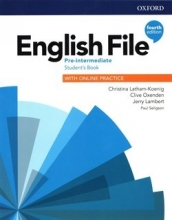 كتاب اینگلیش فایل پری اینترمدیت ویرایش چهارم English File Pre-intermediate (4th) SB+WB+CD