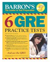 کتاب Barrons 6 GRE Practice Tests