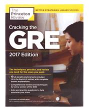 کتاب کرکینگ جی ار ای ویت 4 پرکتیس تست Cracking the GRE with 4 Practice Tests 2017+DVD