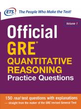 کتاب آفیشیال جی آر ای کوانتیتیتیو ریسونینگ پرکتیس کوئزشن Official GRE Quantitative Reasoning Practice Questions