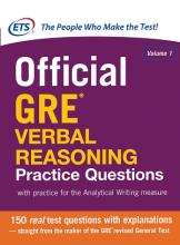 کتاب آفیشیال جی آر ای وربال ریسونینگ پرکتیس کوئزشن Official GRE Verbal Reasoning Practice Questions