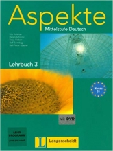 کتاب آلمانی اسپکته Aspekte C1 mittelstufe deutsch lehrbuch 3 + Arbeitsbuch mit audio-CD قدیمی