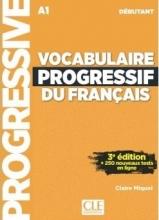 کتاب وکبیولیری پروگرسیف Vocabulaire Progressif Du Francais A1 - Debutant - 3rd +Corriges+CD سیاه و سفید
