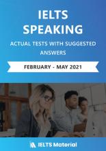 کتاب IELTS Speaking Actual Tests with Answers (Feb – May 2021)